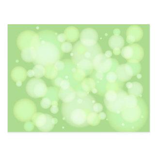 Bokeh grönt cirklar vykort
