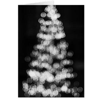 Bokeh julgran hälsningskort