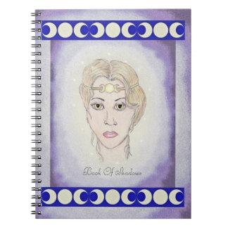 Boken för månen för trippeln för den Artemis Anteckningsbok