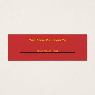 Boken hör hemma till (nytt och förbättrat) litet visitkort