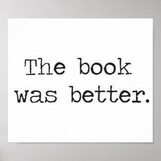 Boken var bättre poster