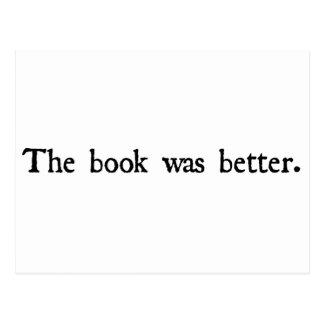 Boken var bättre produkter vykort