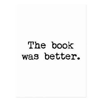 Boken var bättre vykort