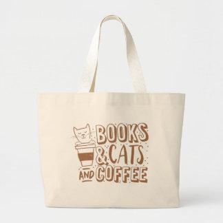 bokkatter och kaffe jumbo tygkasse