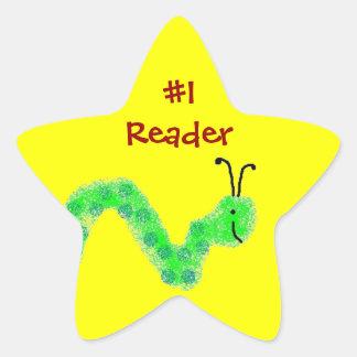 Bokmal för avläsare #1 stjärnformat klistermärke
