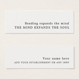 Bokmärke för enkel design litet visitkort