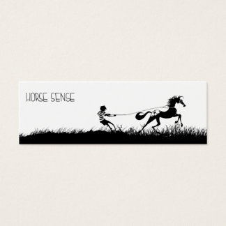 Bokmärke för hästavkänningskortkort litet visitkort