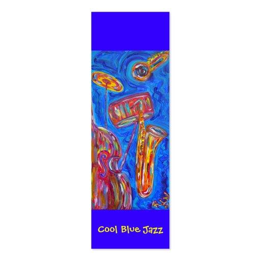 Bokmärke - kall blåttJazz Visit Kort