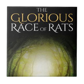 """Bokomslag av """"den härliga tävlingen av råttor """", kakelplatta"""