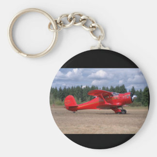 Bokträd Staggerwing, flyg 1946_Classic Rund Nyckelring