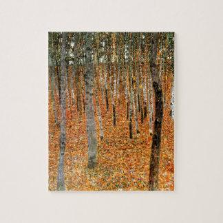 Bokträdskog av Gustav Klimt Pussel