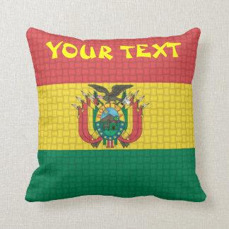 Bolivia boliviansk flagga: TILLFOGA TEXT Kudde