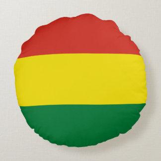 Bolivia flagga rund kudde