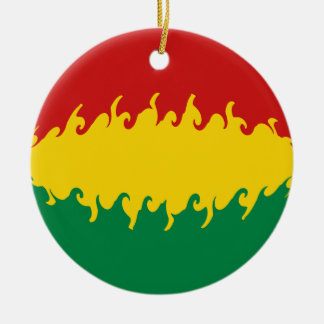 Bolivia Gnarly flagga Rund Julgransprydnad I Keramik