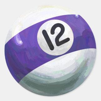 Boll 12 runt klistermärke
