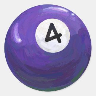 Boll 4 runt klistermärke