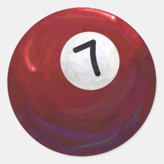 Boll 7 runt klistermärke
