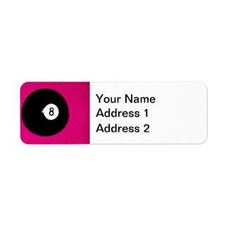 Boll 8 på rosor returadress etikett