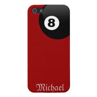 Boll åtta tränga någon fick- på den röda sammetiph iPhone 5 hud