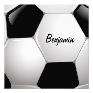 Boll för anpassadefotbollfotboll foto