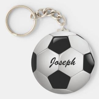 Boll för anpassadefotbollfotboll rund nyckelring
