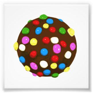 Boll för chokladgodisfärg