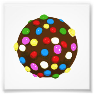 Boll för chokladgodisfärg fototryck