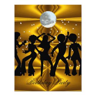 Boll för disko för diskodansfödelsedagsfest 10,8 x 14 cm inbjudningskort