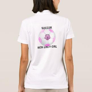 Boll för fotboll för diskoboll rosa och svart pikétröja