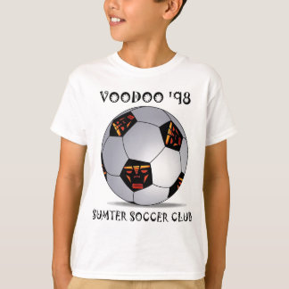 Boll för fotboll för Sumter Voodoo '98 Tshirts