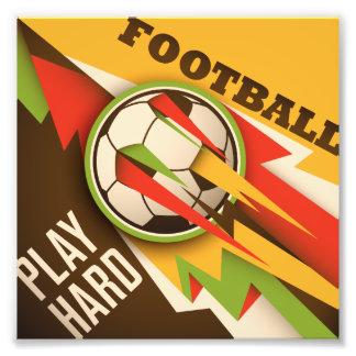 Boll för fotbollfotbollsport fototryck