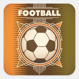 Boll för fotbollfotbollsport fyrkantigt klistermärke