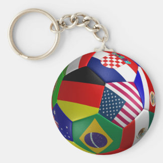 Boll för Futbol vmfotboll Rund Nyckelring
