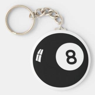 Boll för magi 8 nyckel ring