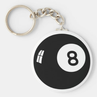Boll för magi 8 rund nyckelring