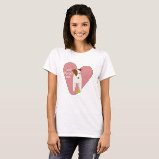boll för tennis för hjärta för gullig mamma för t shirt