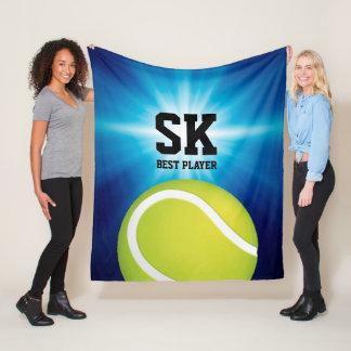 Boll för tennis för personliginitialer | grön fleecefilt