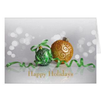 Bollar för julBokeh jul Hälsningskort