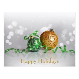 Bollar för julBokeh jul Vykort