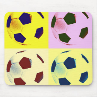 Bollar för popkonstfotboll musmatta