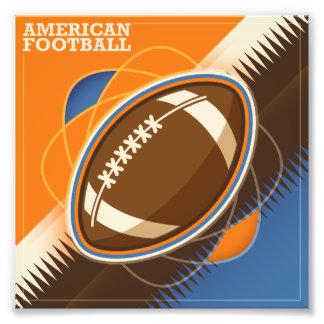 Bollspel för amerikanfotbollsport fototryck
