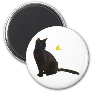 Bombay katt & fjäril magnet