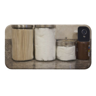 Bomulls- och tungadepressors i doktorkontor iPhone 4 Case-Mate fodraler