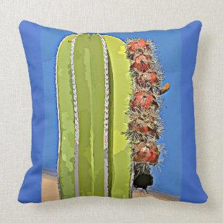 Bomullsdekorativ kudde - ugnen leda i rör kaktusen