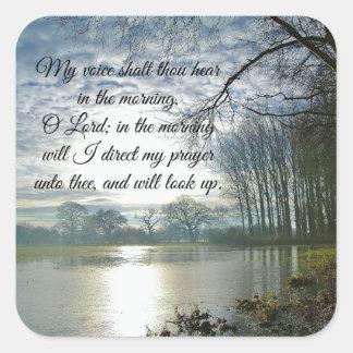 Bön för bibelVerseScripture Fyrkantigt Klistermärke
