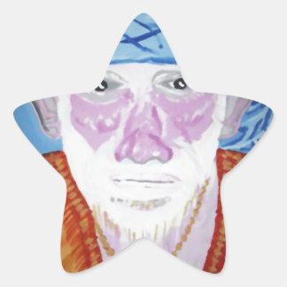 Bön för Preacher för lärare för Guru för SAI-BABA Stjärnformat Klistermärke