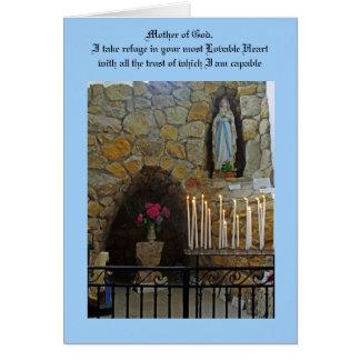 Bön till vår dam hälsningskort