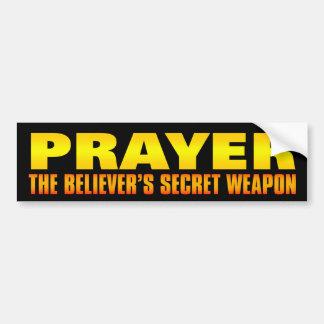 Bön: Troende hemliga vapen Bildekal