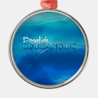 Bonafide märkre för Cruiseaholic havbagage Julgransprydnad Metall