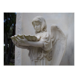Bonaventure för ängelflickafigur Savannah Georgia  Poster